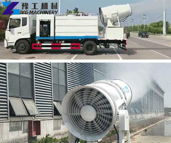 Use of Dust Control Water Turck