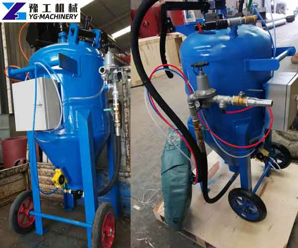 Mobile Shot Sand Blasting Machine