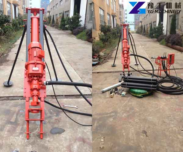 Small Outrigger Type DTH Drill Rig