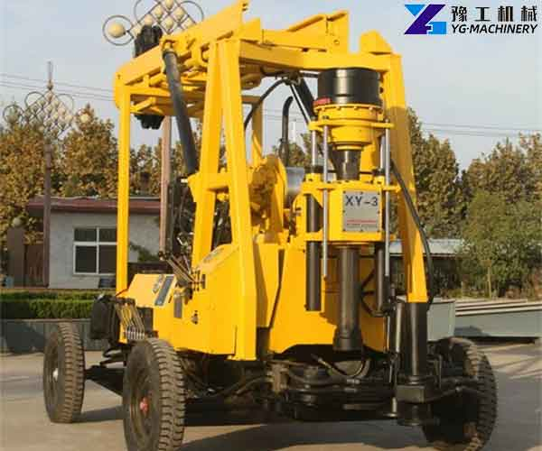Wheeled Water Well Drilling Rig