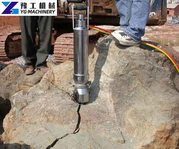 Hydraulic Rock Splitter Machine